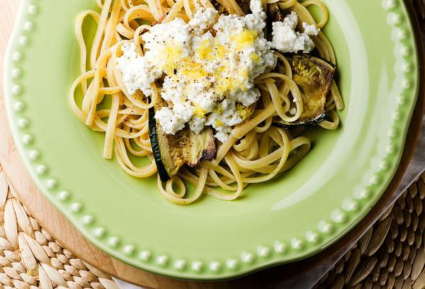 Zucchini Pasta with Ricotta - Framed Cooks