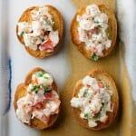 Shrimp and Tarragon Crostini
