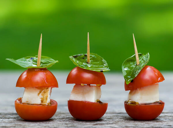 Caprese Mini Sandwiches Recipe — Dishmaps