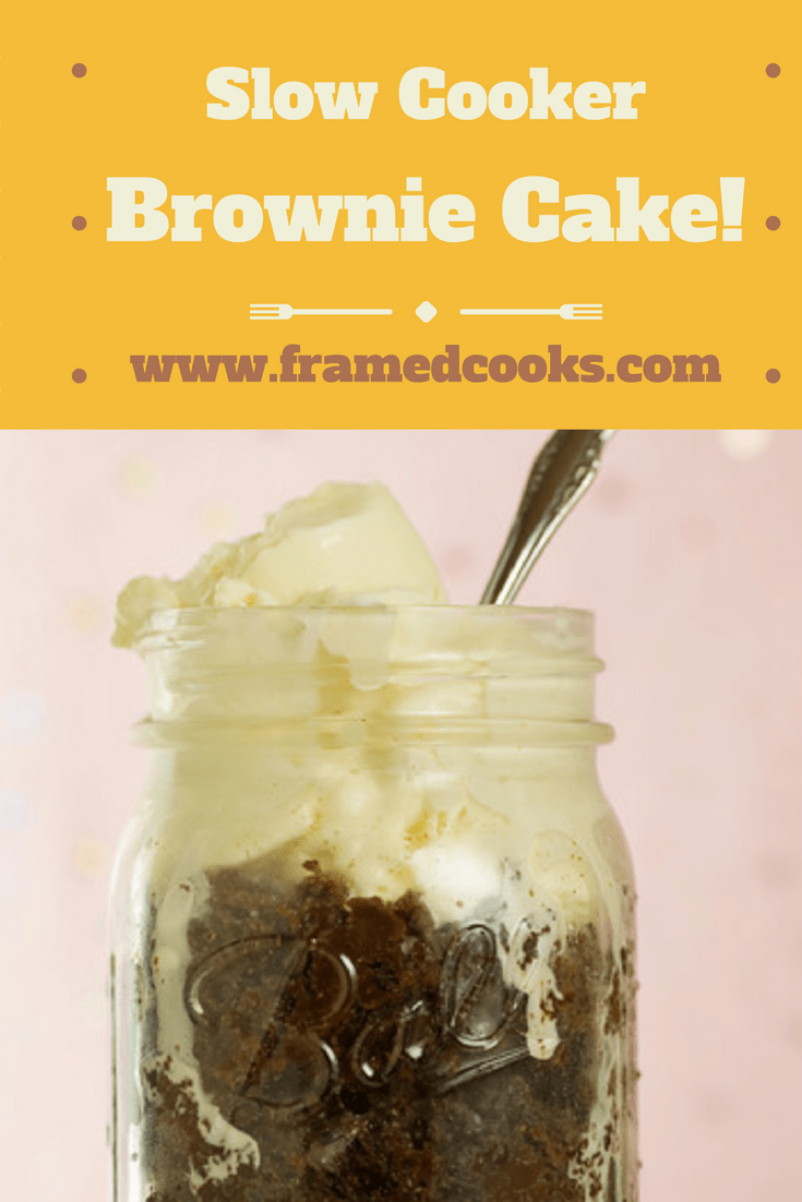 This slow cooker brownie pudding cake recipe is warm and wonderful melt in your mouth delicious! Yes, dessert from the slow cooker - it's true!