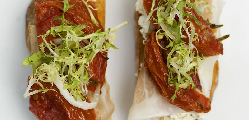 Filet Mignon Carpaccio with Mini Caesar Salad and Poached Egg