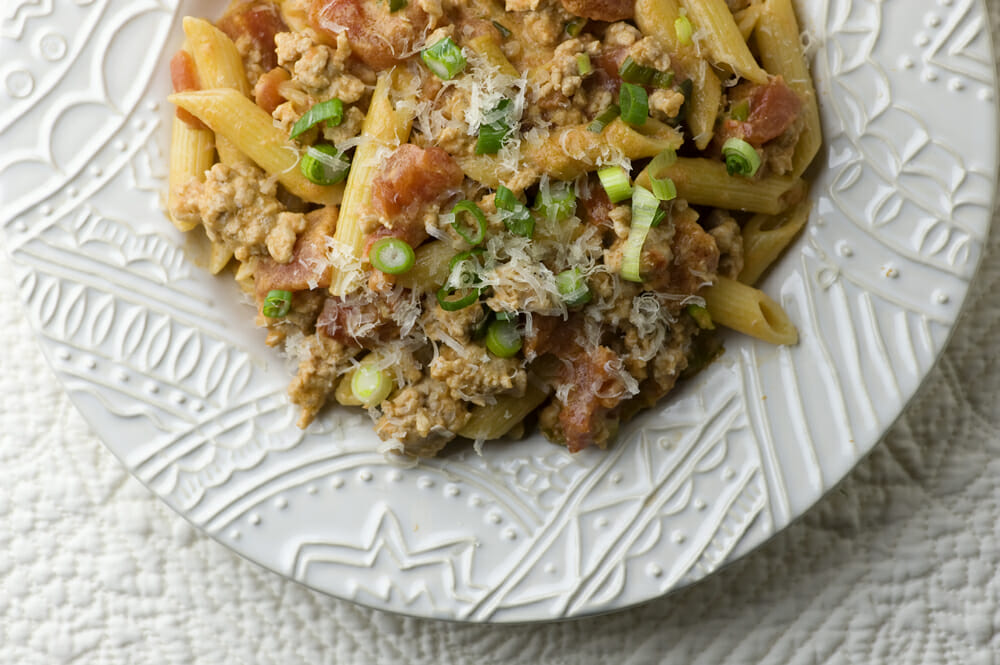 Pasta with Tomato Veal Sauce