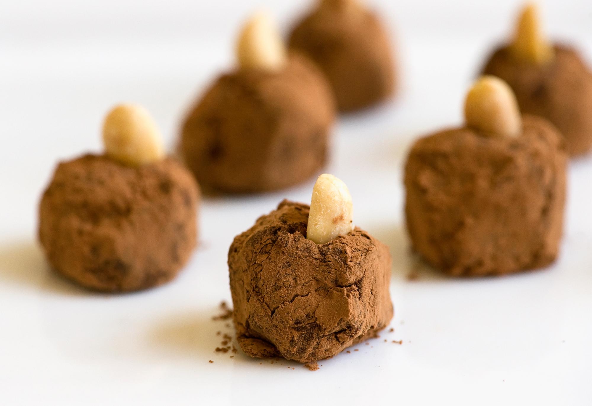 chocolate butterfinger truffles