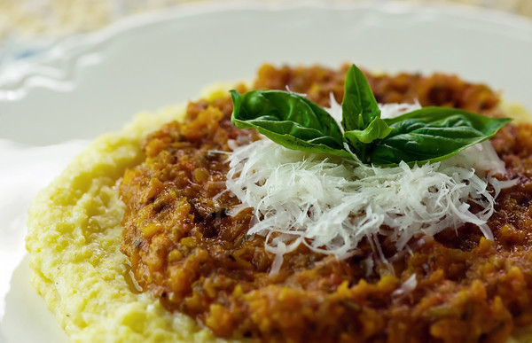 Soft Polenta with Sweet Tomato Sauce - Framed Cooks