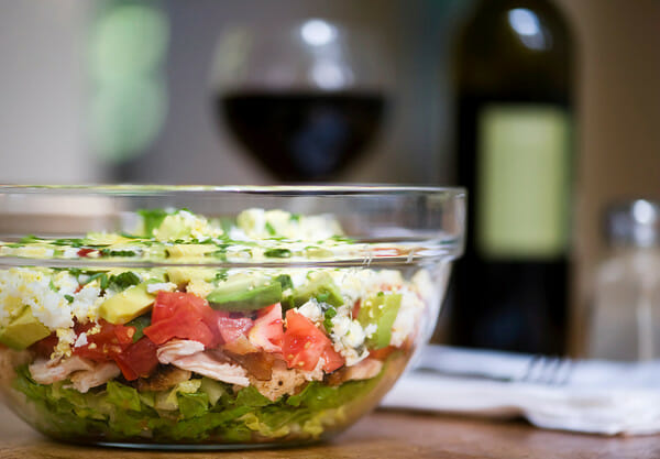 Layered Cobb Salad - Framed Cooks