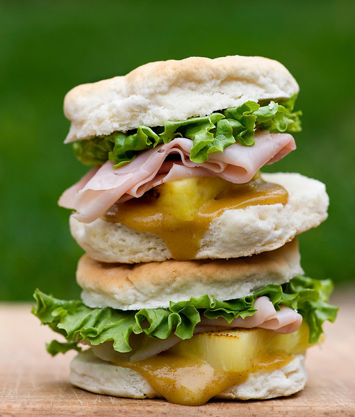 Ham And Pineapple Biscuit Sliders With Spicy Honey Mustard Recipe ...
