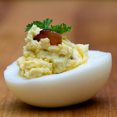 bacon blue cheese deviled eggs