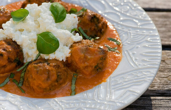 Meatballs with Fresh Ricotta