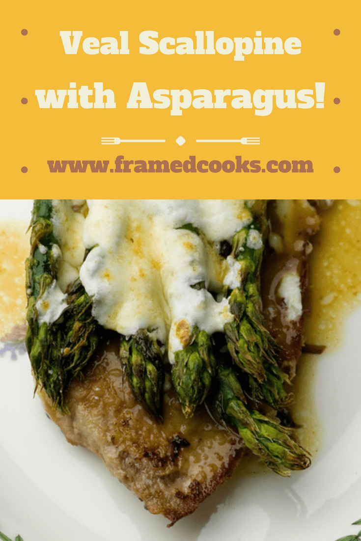 A quick and easy veal recipe featuring fresh asparagus and veal cutlets with an easy marsala wine sauce.  Veal scalloping with asparagus is perfect for both dinner parties and weeknight suppers!