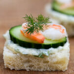 Shrimp, Brie and Cucumber Sandwiches