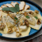 Agnolotti with Sage Walnut Cream Sauce