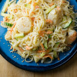 Chilled Seafood Pasta Salad with Ginger Yogurt Dressing