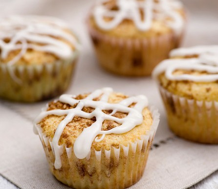 Middle Of The Cinnamon Roll Muffins