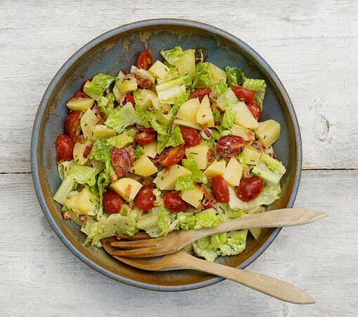 Bacon Lettuce and Tomato Potato Salad Recipe - Framed Cooks