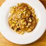 Gingerbread Pancakes with Buttered Apples