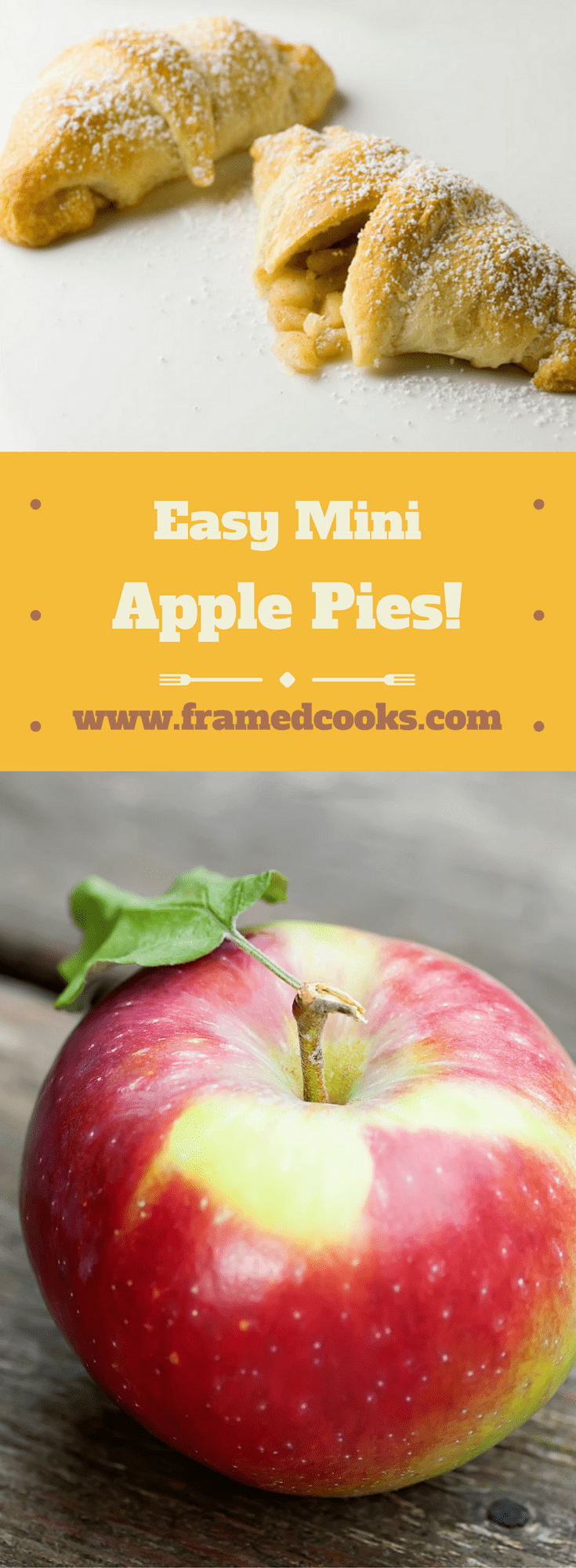 These easy mini apple pies are full of sweet and spicy apples. It's like having a little apple pie right there in your hand!