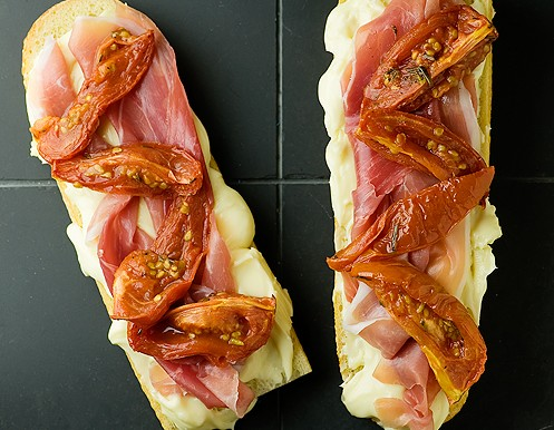 Brie, Roasted Tomato and Prosciutto Sandwich