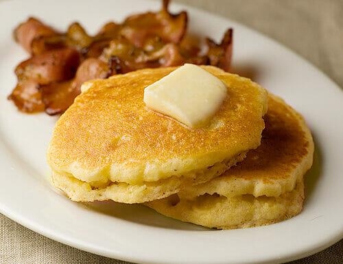 Buttermilk Cornmeal Pancakes