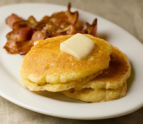 Buttermilk Cornmeal Pancakes - Framed Cooks