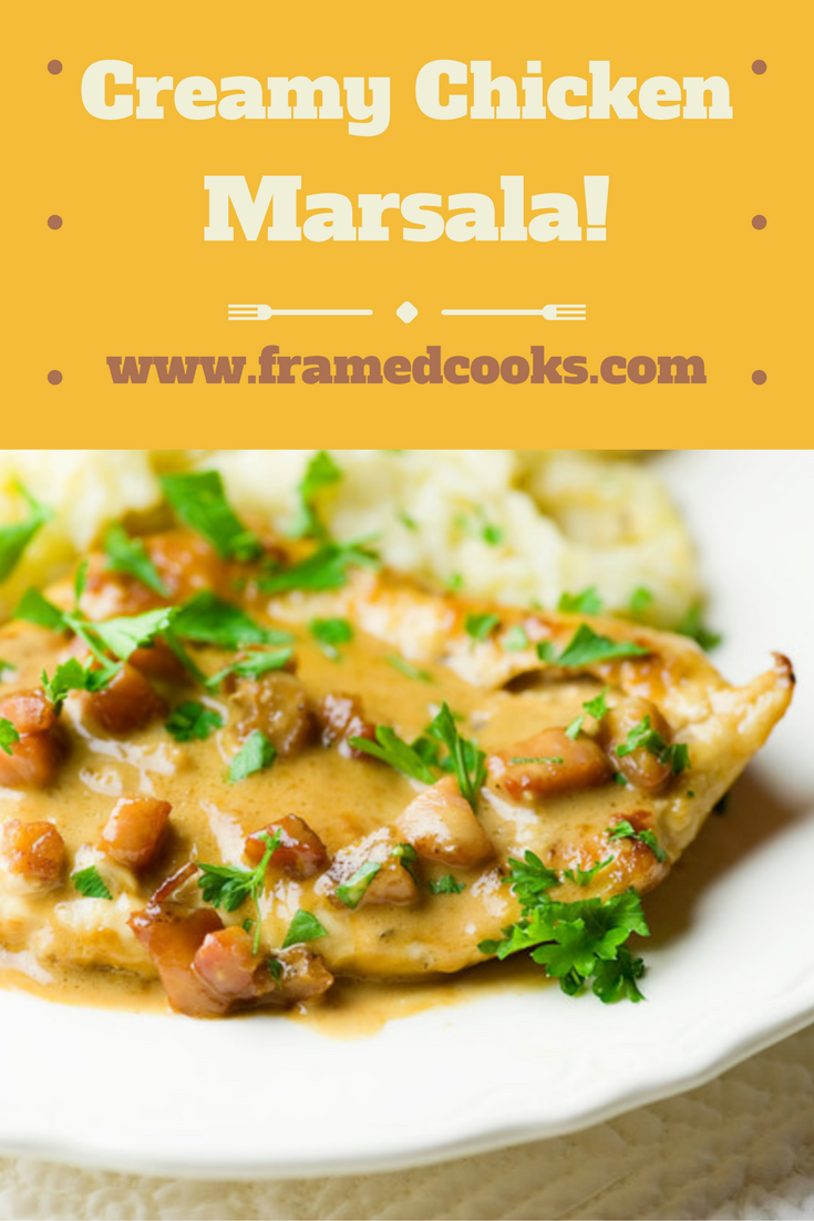 A creamy marsala sauce with pancetta makes this chicken recipe extra special!