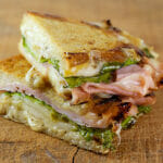 Pressed Pear, Ham and Cheese Sandwiches