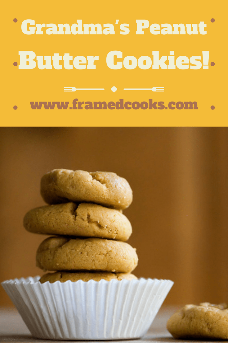 Grandma's Peanut Butter Cookies are perfect little melt in your mouth tiny little treats, made from just four ingredients you already have in your kitchen!