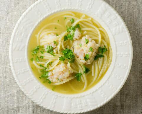 Shrimpball Pasta Soup!