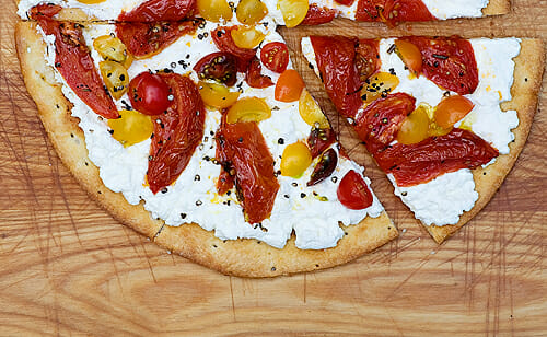 Ricotta and Roasted Tomato Pizza - Framed Cooks