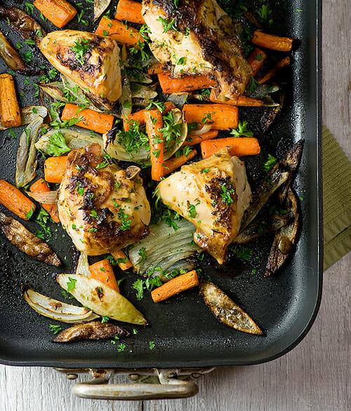 Roasted Dijon Chicken - Framed Cooks