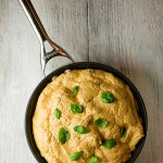 Basil and Goat Cheese Skillet Souffle