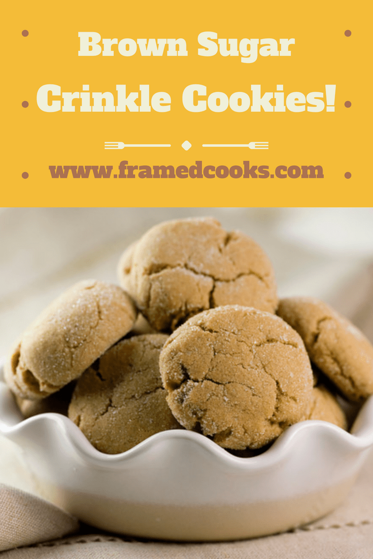 Brown sugar crinkle cookies take your everyday sugar cookie to all new heights of wonderfulness! Try this easy recipe and fill up your cookie jar.