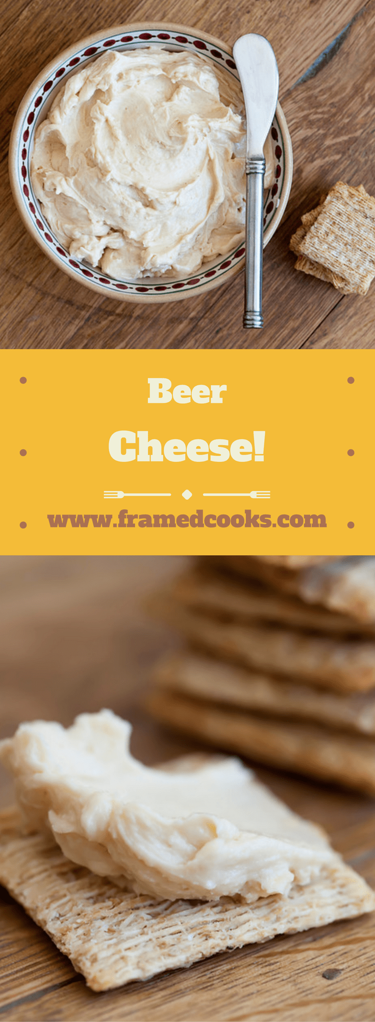 This spreadable beer cheese is a quick and easy combo of cheddar cheese and your favorite beer, and will soon be a regular guest at all your parties!