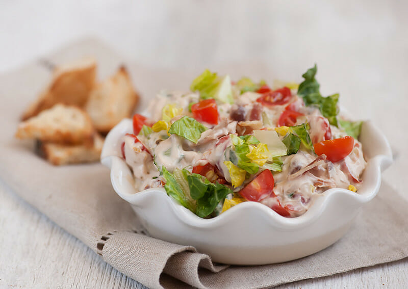 Easy Bacon Lettuce and Tomato Dip