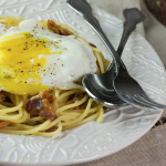 Bacon and Eggs Spaghetti