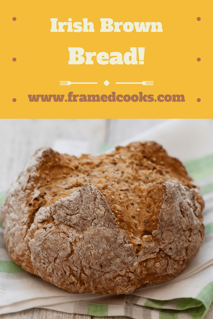Hearty and substantial, this Irish brown bread recipe is perfect with soups, stews, or all by itself with a slathering of soft butter.