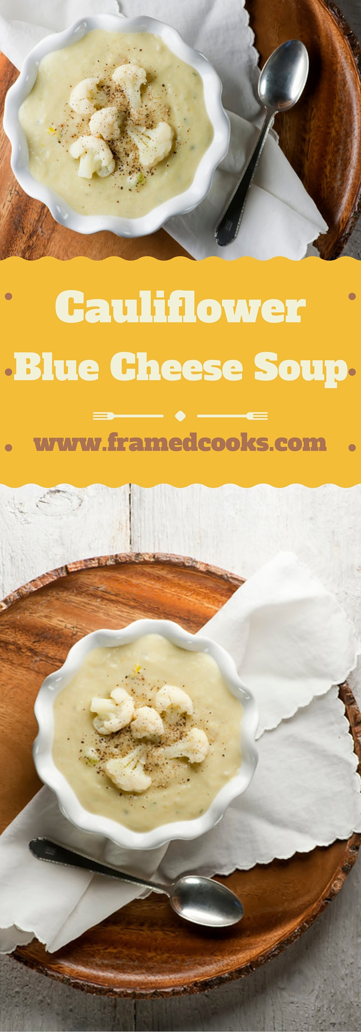 Cauliflower and blue cheese team up in this easy, creamy, tangy, hearty cauliflower blue cheese soup!