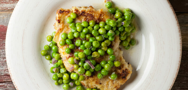 Chicken with Fresh Pea Sauce