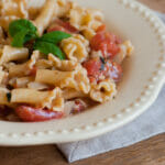 Pasta with Blue Cheese Tomato Sauce