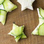 Cucumber Goat Cheese Sandwiches