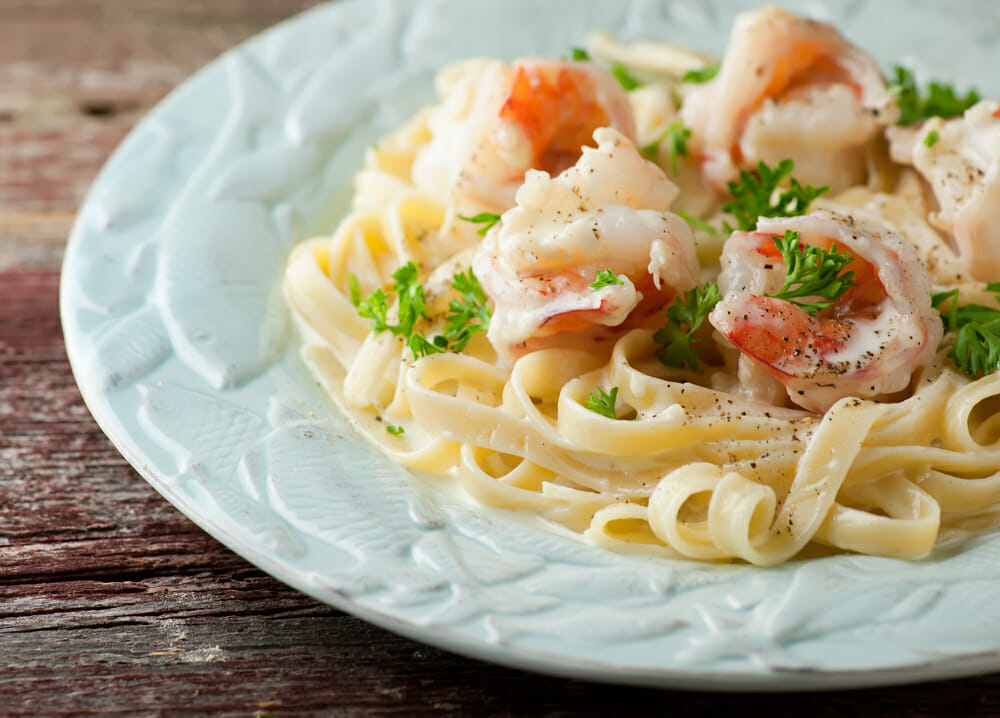 Shrimp Fettuccine Alfredo - Framed Cooks