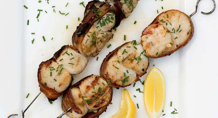 Grilled Bacon Scallops