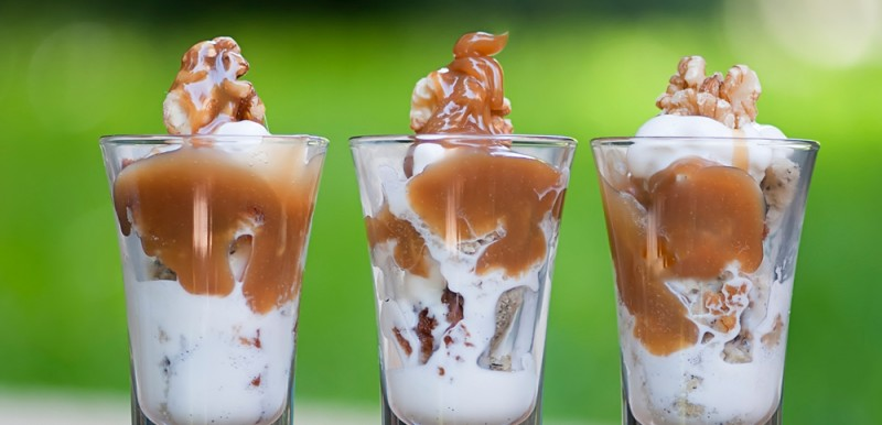 Banana Bread Ice Cream Shooters