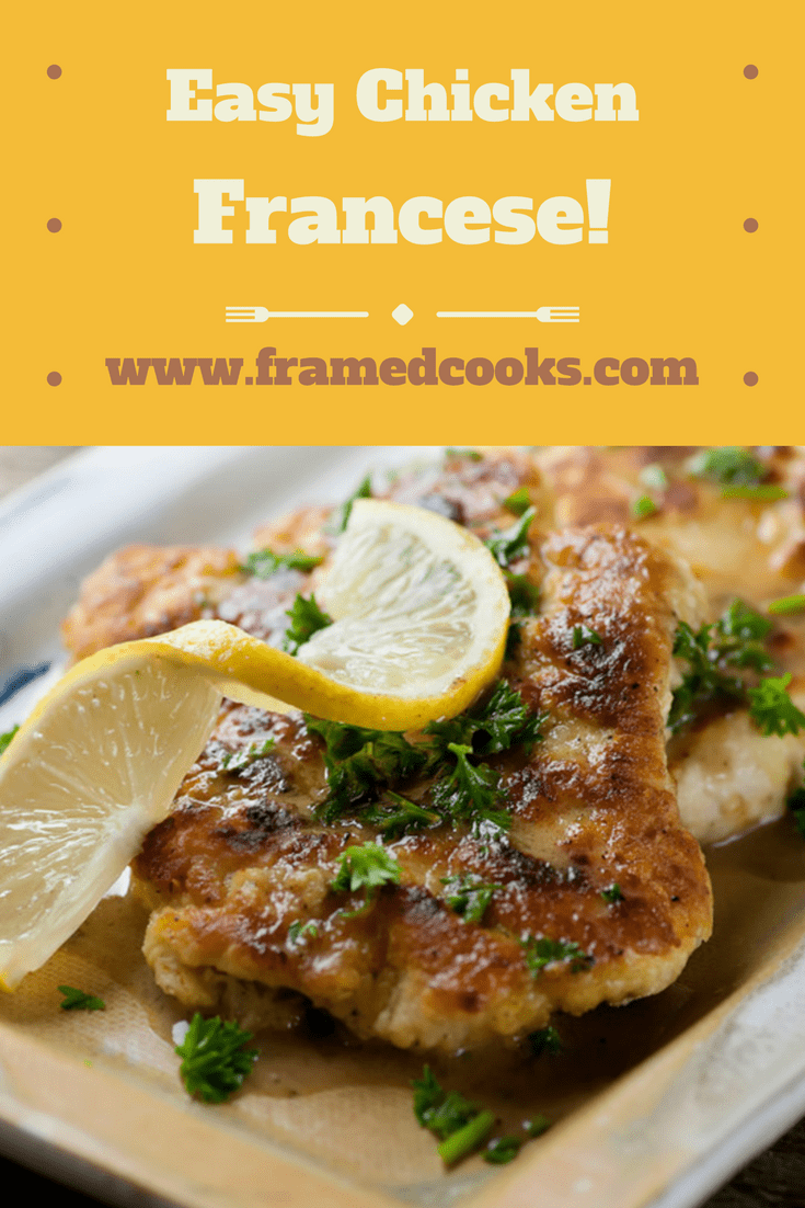 Weeknight chicken dinner just got fancy without the fuss with this simple and delicious chicken francese recipe! Lemon lovers of the world, unite!
