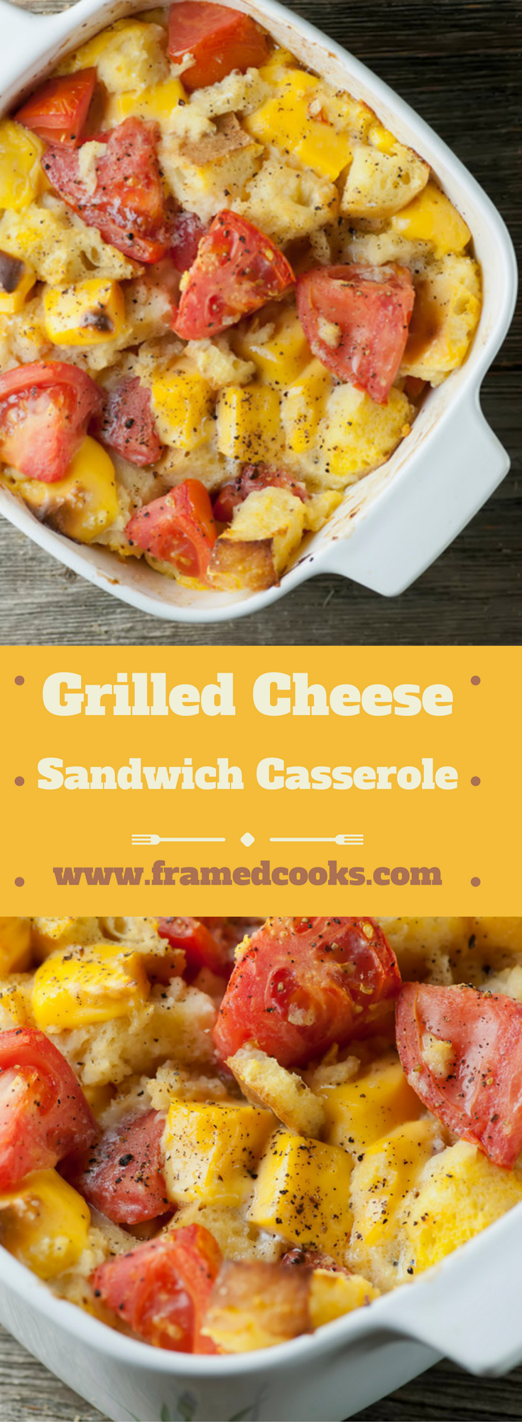 Everyone's favorite sandwich, the creamy dreamy grilled cheese, now in casserole form! This grilled cheese sandwich casserole is easy and delicious.