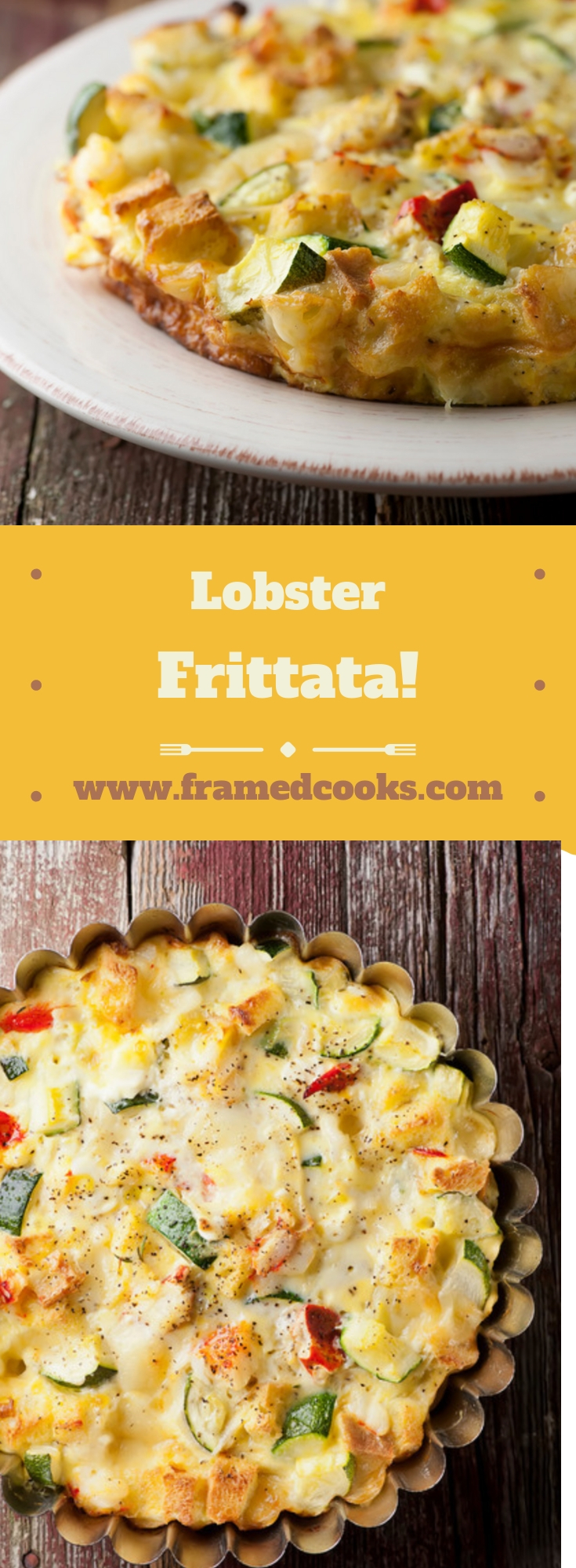 A few eggs, some zucchini, a little lobster and you are in brunch heaven with this out of this world lobster frittata recipe!