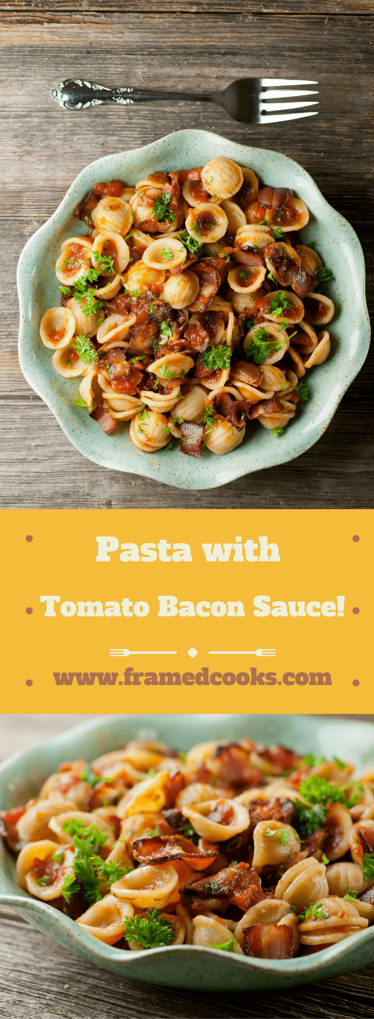 Liven up your pasta sauce with bacon! This easy recipe for pasta with tomato bacon sauce will have them asking for supper seconds.