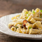 Pasta with Buttered Sour Cream and Bacon