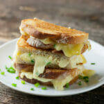 Grilled Brie Sandwiches with Mustard and Chives