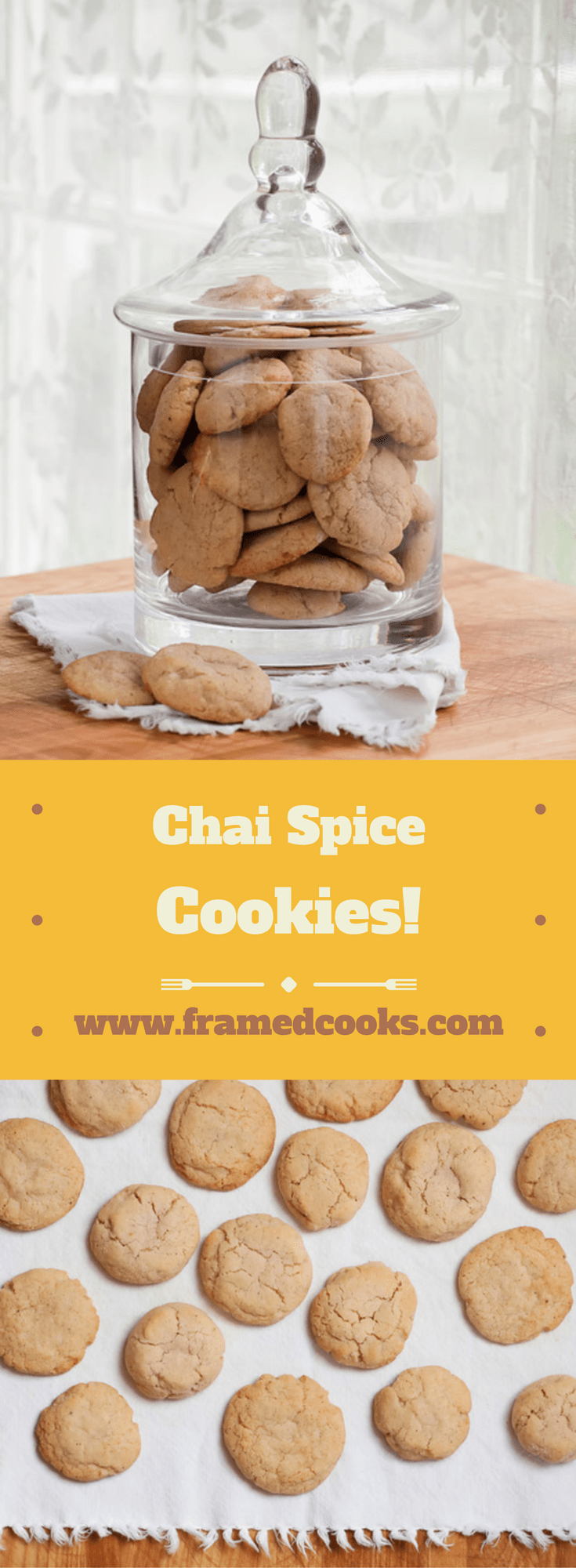 All the spicy and wonderful tastes of chai tea in a cookie recipe that is perfect for the holidays. Chai spice cookies and a cup of tea!