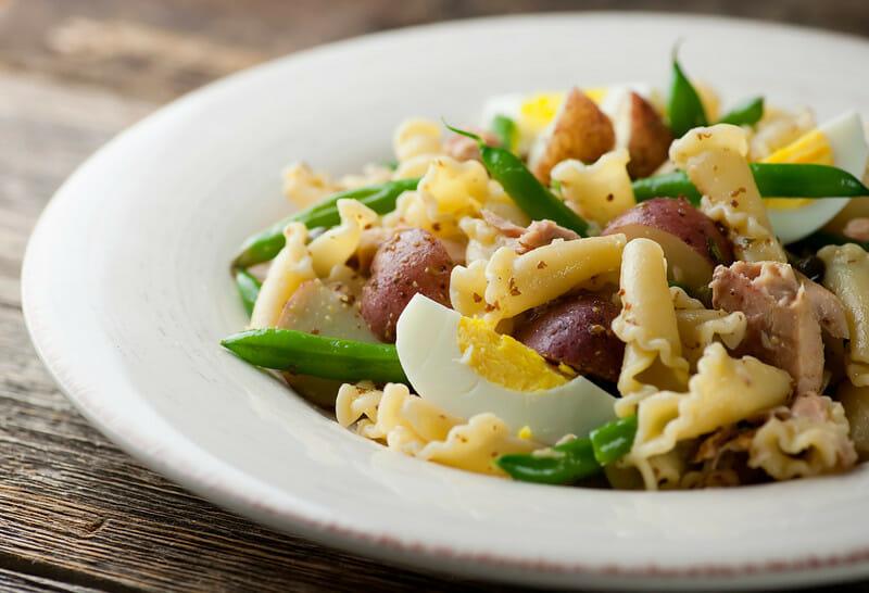 Tuna nicoise pasta framed cooks for Tuna fish pasta salad